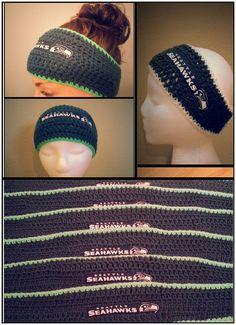 Seattle Seahawks Headband Crochet