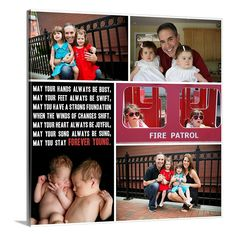 Perfect gift for your parents, or wife or husband. Canvas collage with photos and words.