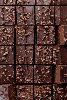 Raw Chocolate Fudge - Double Layer Chocolate Fudge with Cacao Nibs