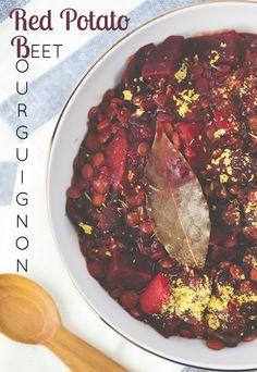 Produce On Parade - Red Potato and Beet Bourguignon