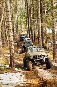 Toyotas running trail at TSF