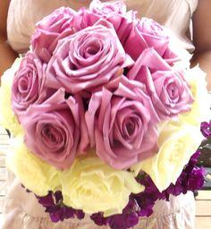 Almost ombre purple wedding floral bouquet