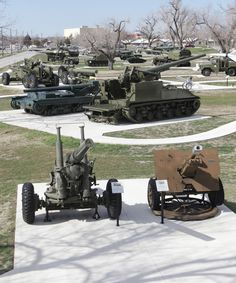 Artillery Park at Fort Sill, Oklahoma