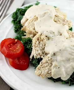 Crock Pot Ranch Cream Cheese Chicken This is one of my favorite meals! You'll love the fork tender chicken breasts and the sauce that goes over it!
