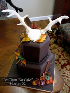 Antlers Groom Cake by Let Them Eat Cake!