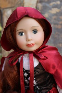 Harmony Club Doll, Lyric, dressed like Little Red Riding Hood. Visit www.harmonyclubdolls.com