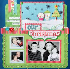 Guest Designer: Vicki Boutin + Bonus Workshop...I would change this idea by using bigger pictures and crafting a longer lower scene at the bottom...