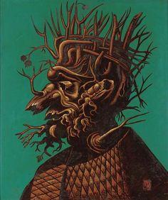 """Man Ray """"El invierno"""" (1944) a partir de Arcimboldo. Los surrealistas y Arcimboldo http://harteconhache.blogspot.com.es/2013/04/arcimboldo-el-biologo.html"""