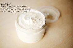 DIY: whipped shea butter hair moisturizer