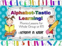 Alphabet-Tastic Learning for Whole Group & RTI! This packet includes 215 pages of phonics fun.  For each letter, there will be: Letter on the Bus song, letter tracing page/handwriting practice, cut/glue lowercase and capital letters, and pictures for each letter. It also includes: class book, alphabet buses, alphabet flash cards, can you find the letter, and more! $