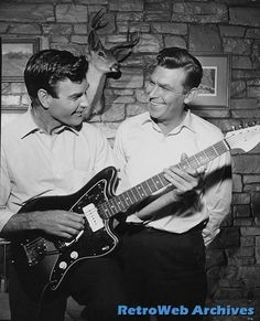 James Best and Andy Griffith  Jim plays the guitar and gets invited to play professionally