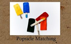 Popsicle Matching Busy Bag