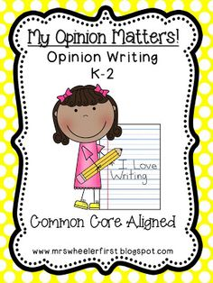 Differentiated Opinion Writing Pack {k-2}!!!