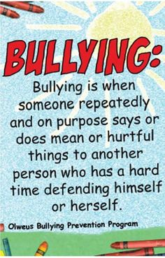 Bullying can occur when one uses Comic Sans font ;)