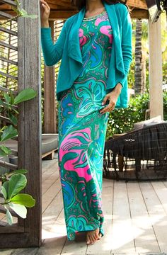 Lilly Pulitzer Franconia Circle Neck Maxi Dress in Lilly Lounge