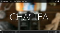 Chai Tea from Scratch :: Great video about how to make homemade Chai Tea.