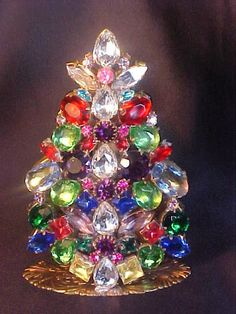 Rhinestone Free Standing Christmas Tree