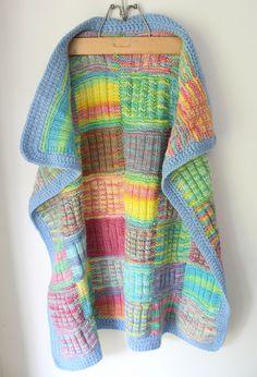 Knit Patchwork Blanket by lolie jane, via Flickr