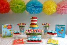 Dr. Seuss themed baby shower.