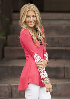 Mommy Coral Ray Of Sunshine Tunic - Ryleigh Rue Clothing by MVB