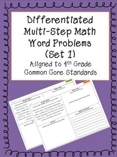 5th grade math multi step word problems worksheets