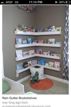 Shelving idea for kids room