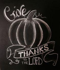 Thanksgiving chalkboard print
