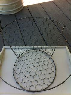 DIY chicken wire basket using a tomato cage tutorial!
