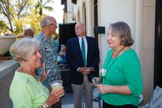 Emmanuel College Alumni St. Patrick's Event   Naples, FL   3.15.14 -  Nancy LaFleur LaPierre '63, from Mableton Georgia chatting with Nancy Byron '83 of Englewood FL