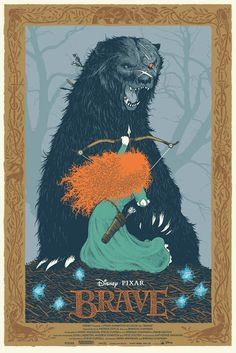 BRAVE poster by David Petersen for @MondoNews