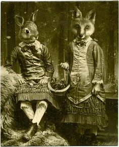 Easter bunny and Easter fox
