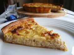 Quiche de cebolla, puerro y queso