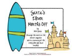 LA - Sequencing / Common & Proper Nouns - Santa's Eleven Months Off -- Pitner's Potpourri Freebie