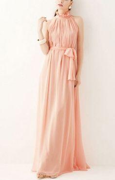 chiffon maxi dress maxi dresses, bridesmaid, peach, chiffon dresses, chiffon maxi