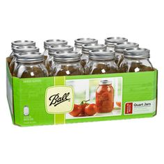 12-Pack 32 Oz. Glass Jars with Lids $4.69