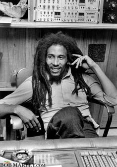 Bob Marley  In the studio...