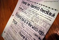 Someone made a We Are The In Crowd lyric sheet. It's amazing. I wish made sheets this good.