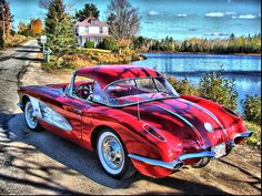 58 Corvette  Roadster-The Good Old Days    Photo taken in Harvey NB by Tom Hiltz, what a great picture