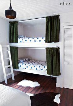 fun bunk beds - via design sponge
