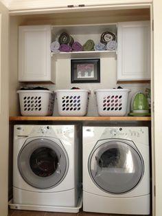 Condo Wash Room Organization Idea