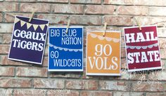 Love these SEC posters on Etsy. Find your team's poster by clicking the link!