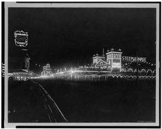 Boardwalk at night, Atlantic City, New Jersey, ca 1911