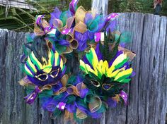 Hey, I found this really awesome Etsy listing at https://www.etsy.com/listing/171361656/mardi-gras-mask-wreath