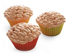 Brain Cupcake Halloween Dessert Recipe