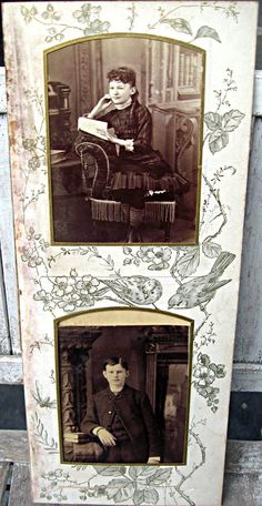 Antique photo album pages with 4 victorian by LittleBeachDesigns, $19.00