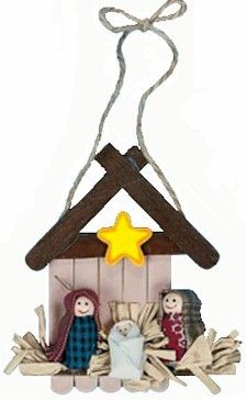 Nativity Craft easy to make ornament