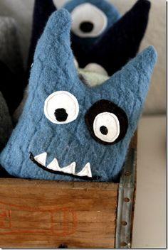 DIY Thrifted Sweater Monsters by goddesshobbies #DIY #Toys #Monster