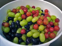 Frozen grapes = candy ... they say...so I will have to try this