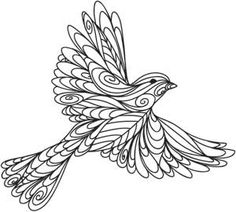 This bird is not quilled yet, but you might want to use the pattern to quill one!