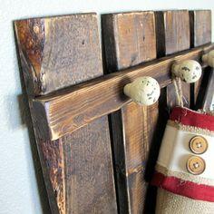 Rustic Barn Door Gate Coat Rack Christmas by SoPurdyCreations